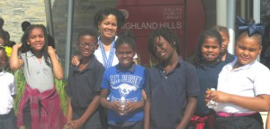 Franklin with students +