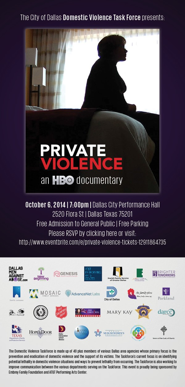 Private Violence Flyer