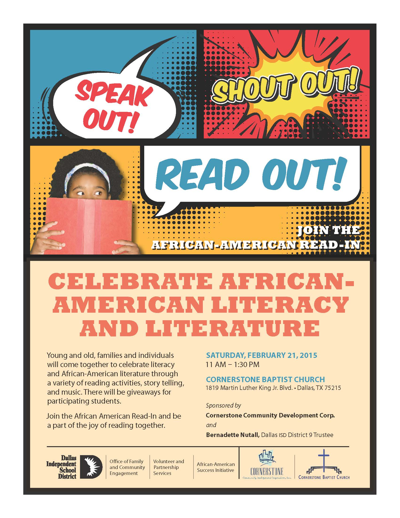 community to celebrate african american literacy and literature at  2015 african american in flyer