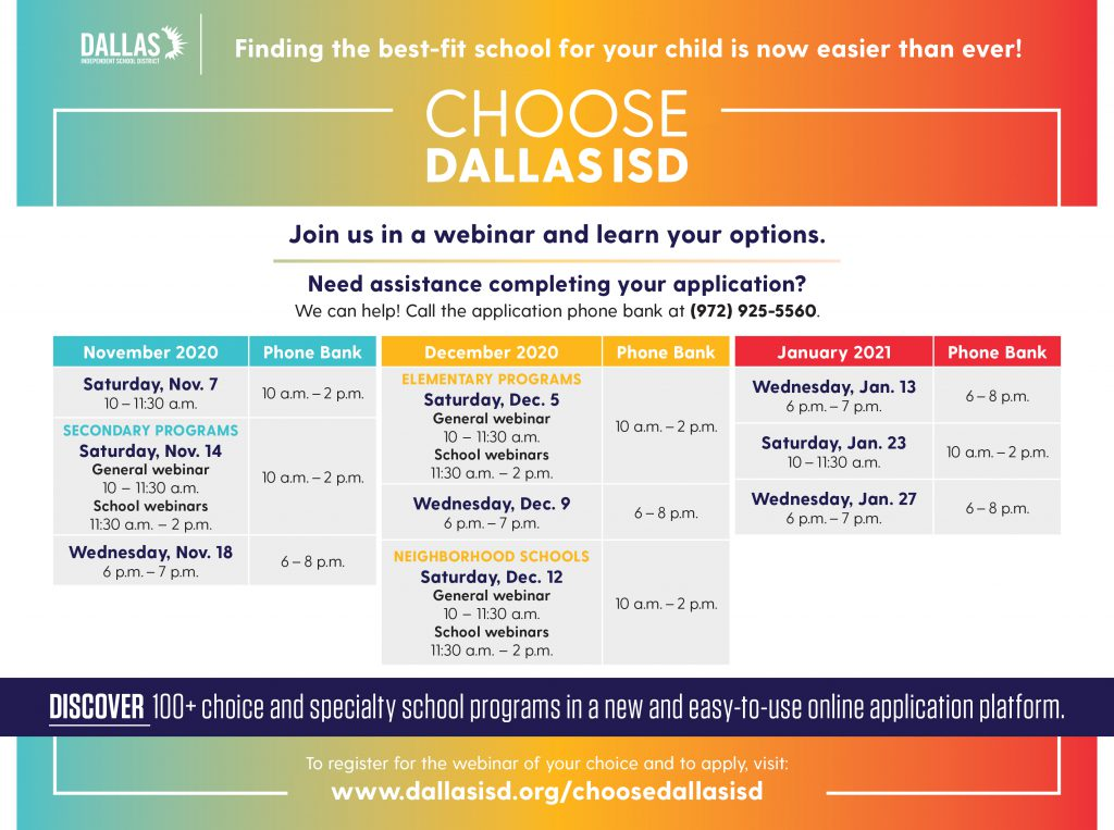 Discover Dallas ISD: All you need to know about applying for schools!